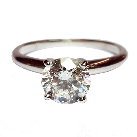 1.19ct Round Brilliant Cut Diamond in Solitaire Ring