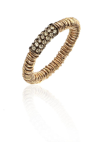 Stretch Ring with Cognac Diamonds