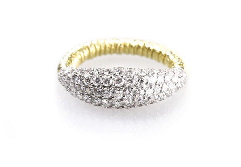 Diamond Dome Stretch Ring - Yellow