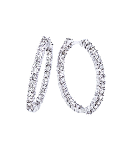 1.53 cttw Diamond Hoops