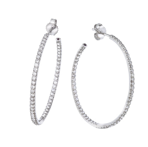 0.98 cttw Diamond Hoop