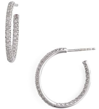 0.66 cttw Diamond Hoops