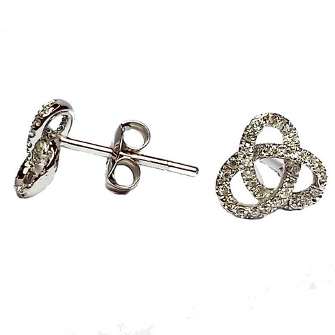 Diamond Knot Stud Earrings