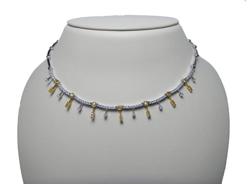 White & Yellow Diamond Necklace