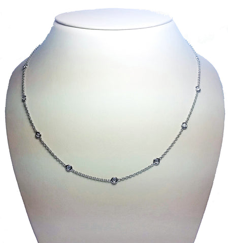 Diamonds by the Inch Necklace - Thirteen & White