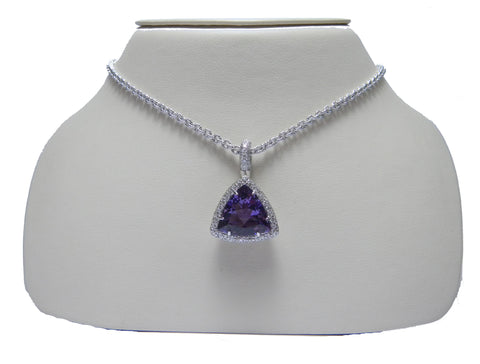 Trillion Amethyst Necklace
