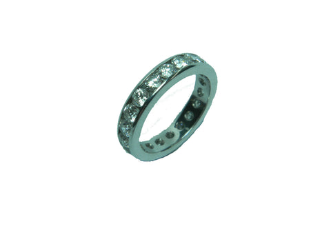 Round Channel Eternity Ring