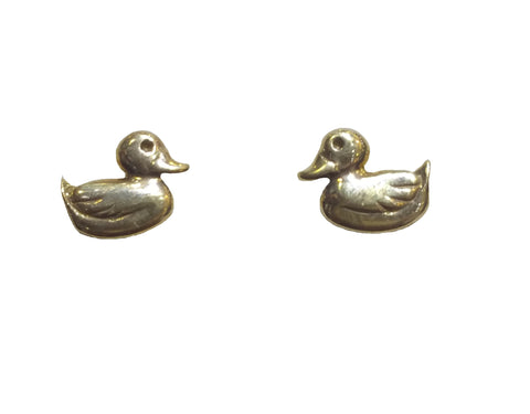 Yellow Gold Duck Studs - 7mm