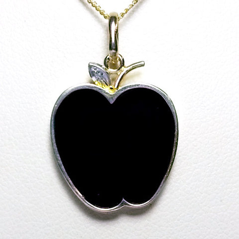 Onyx Apple Necklace