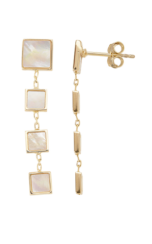 Square Mother Of Pearl Earrings