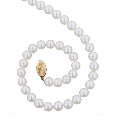 7mm 20 Inch White Pearl Necklace