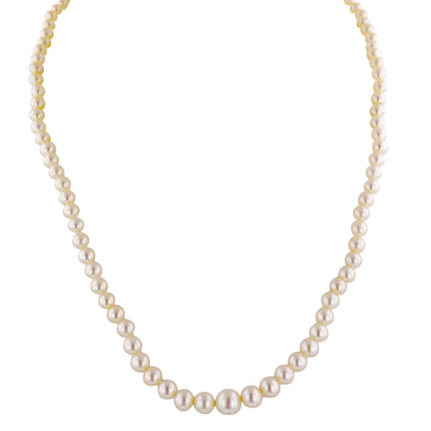 17 Inch White Pearl Graduated Necklace
