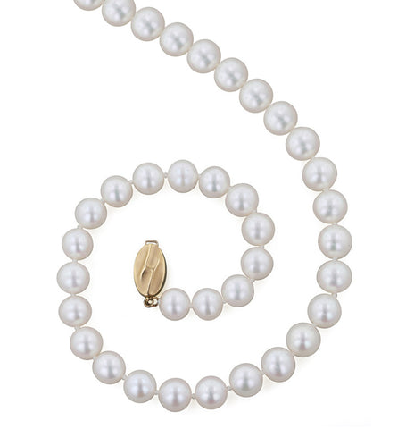 8mm 18 Inch White Pearl Necklace
