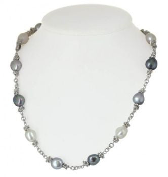 Tuxedo Pearl Necklace