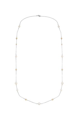 Pearl & Gold Station Necklace