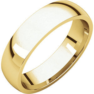 Men's 5mm Yellow Gold Band