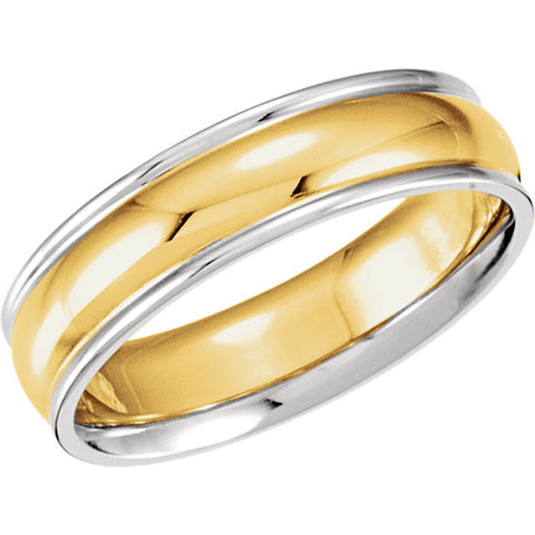Men's 6mm Two Tone Band