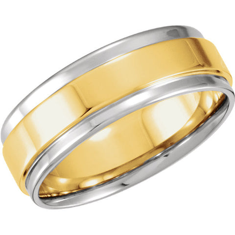 Men's 7.5mm Flat Edge Band