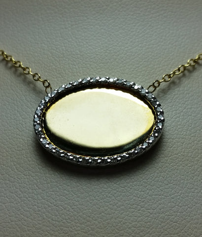 Engravable Disc with Diamonds