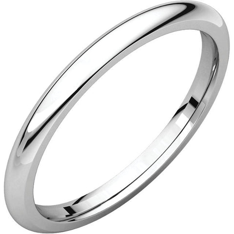 Men's 2mm Thin Platinum Band