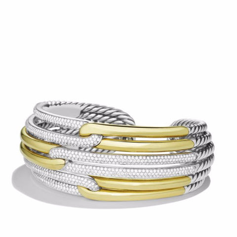Labyrinth Triple-Loop Cuff Bracelet