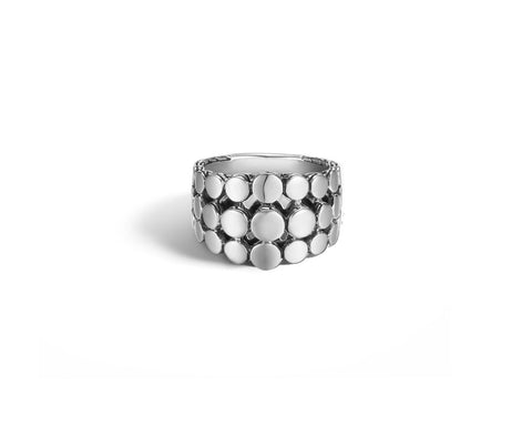 Dot Triple-Row Dome Ring