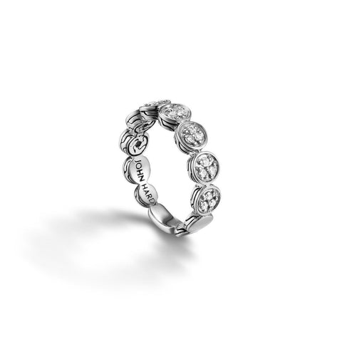 Dot Slim Ring with Diamond Pave