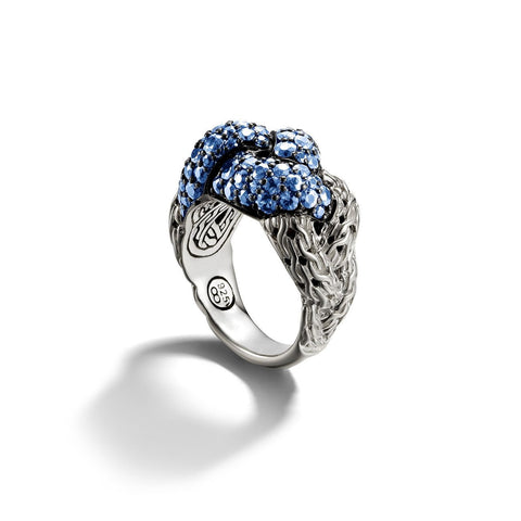 Classic Chain Small Braided Sapphire Ring