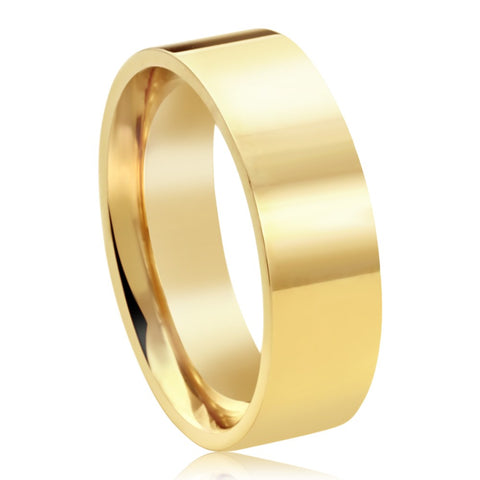 Ladies 6mm Yellow Gold Band
