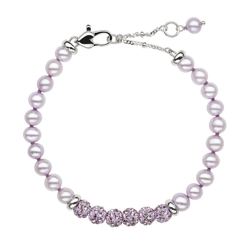 Child's Lilac Pearl Bracelet