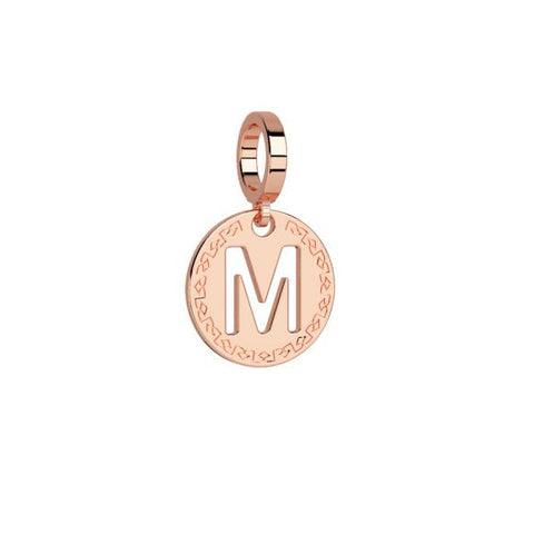 Rose Initial ''M'' Charm