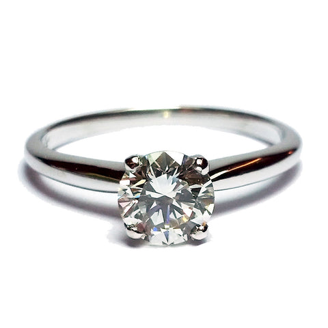 0.83ct Round Brilliant Cut Diamond in Solitaire Ring