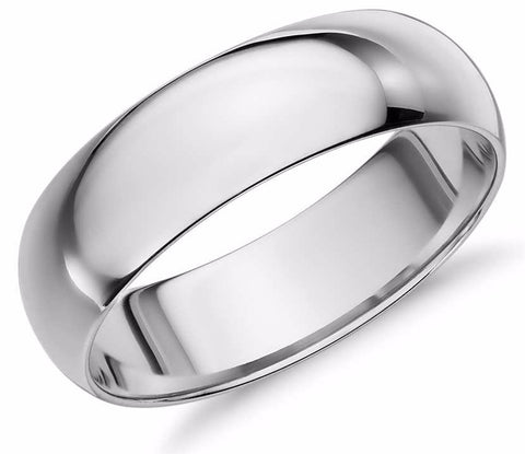 Men's 8mm Dome Titanium Band