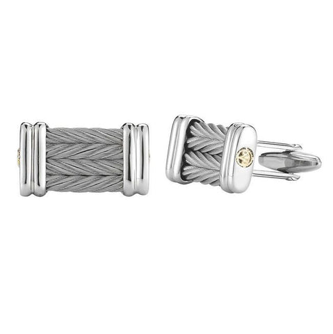 Gentlemen's Grey Cable Cufflinks