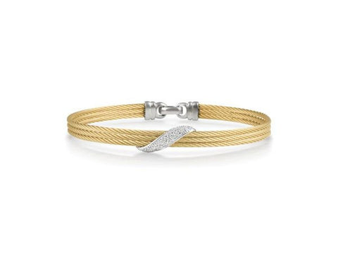 Classique Yellow Bangle with Diamonds