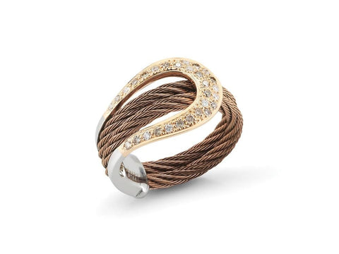 Petra Wide Ring with Diamonds