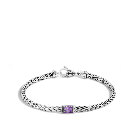 40th Anniversary Classic Chain Lava Bracelet With Amethyst