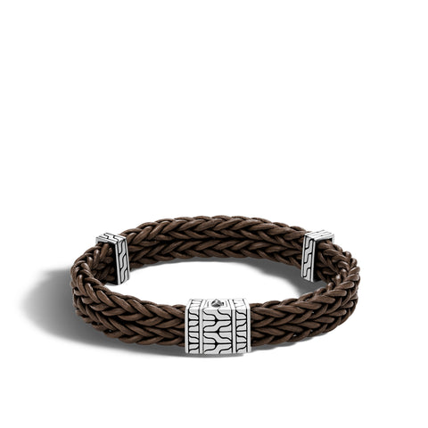 Men's Brown Heritage Station Bracelet