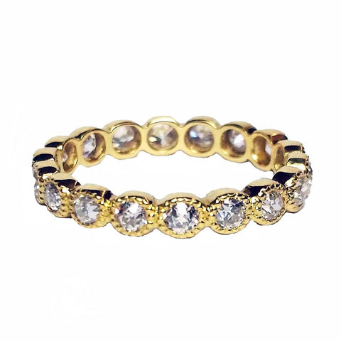Bezel-set Diamond Eternity Band