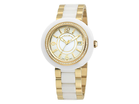 Cavo White Ceramic & Yellow Steel 43mm