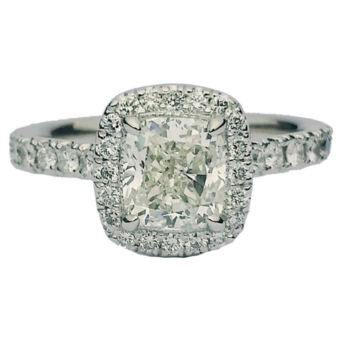 1.01ct Cushion Cut Diamond Ring