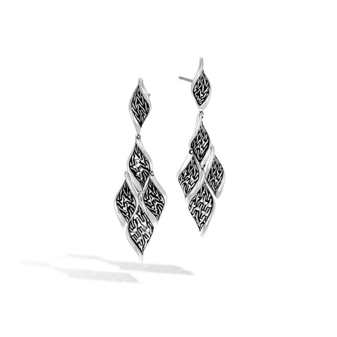 Long Wave Drop Earring