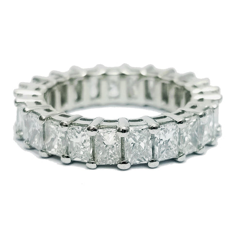 Elongated Princess Cut Diamond Eternity Band