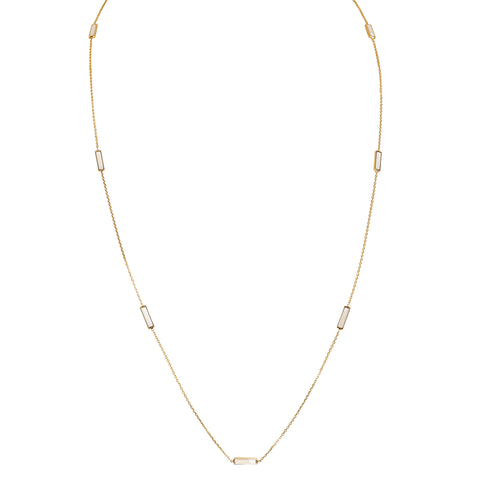 Rectangular Mother Of Pearl Necklace