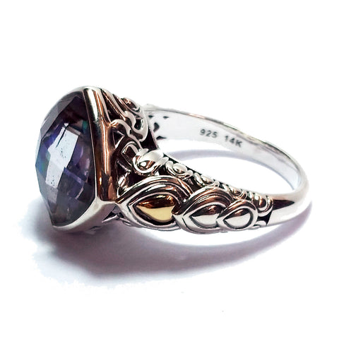 Two-Tone Abalone Ring