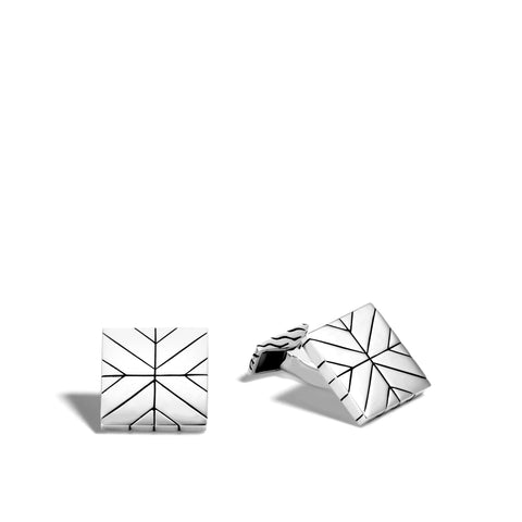 Modern Chain Square Cufflinks