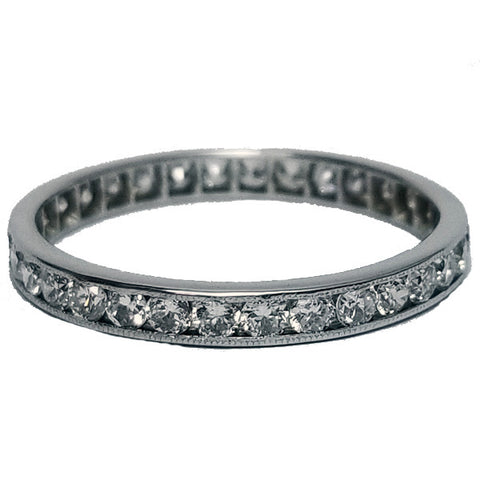 Channel Set Eternity Band with Milgrain Edge