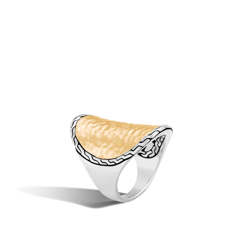 Hammered Saddle Ring