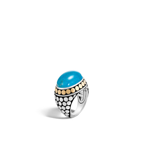 Dome Ring with Turquoise