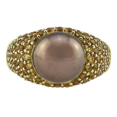 Pearl & Citrine Ring